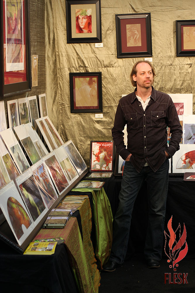 Craig Elliott at his booth at Comic-Con in 2013.