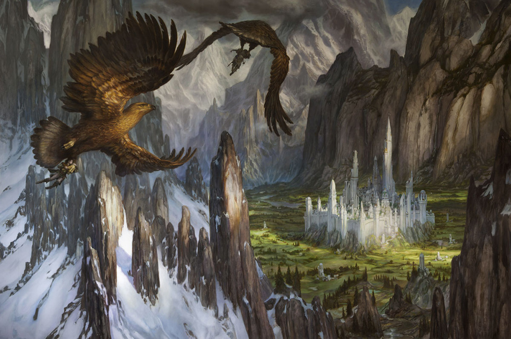 Donato Giancola --  Huor and Hurin Approach Gondolin
