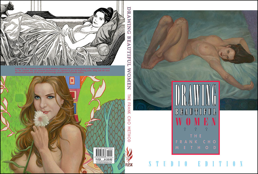 Drawing Beautiful Women: The Frank Cho Method Studio Edition front and back cover and spine.
