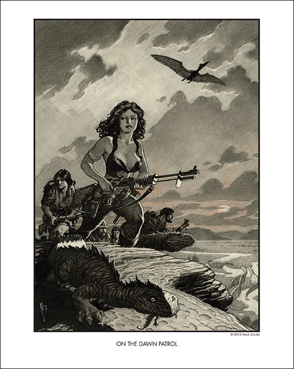 "8 x 10"" Mark Schultz print, free with any Flesk purchase at Comic-Con"