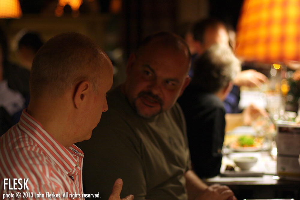 Mark Schultz (in the foreground) discussing his German roots.