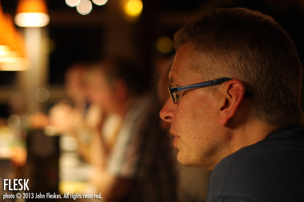Flesk Prime patron, Strip Festival organizer and friend, Fons van Erp.
