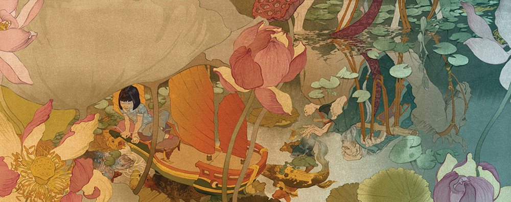 Kirsti Wakelin -- Dreamboats, Lilies, Koi and Chang Kuo-lao