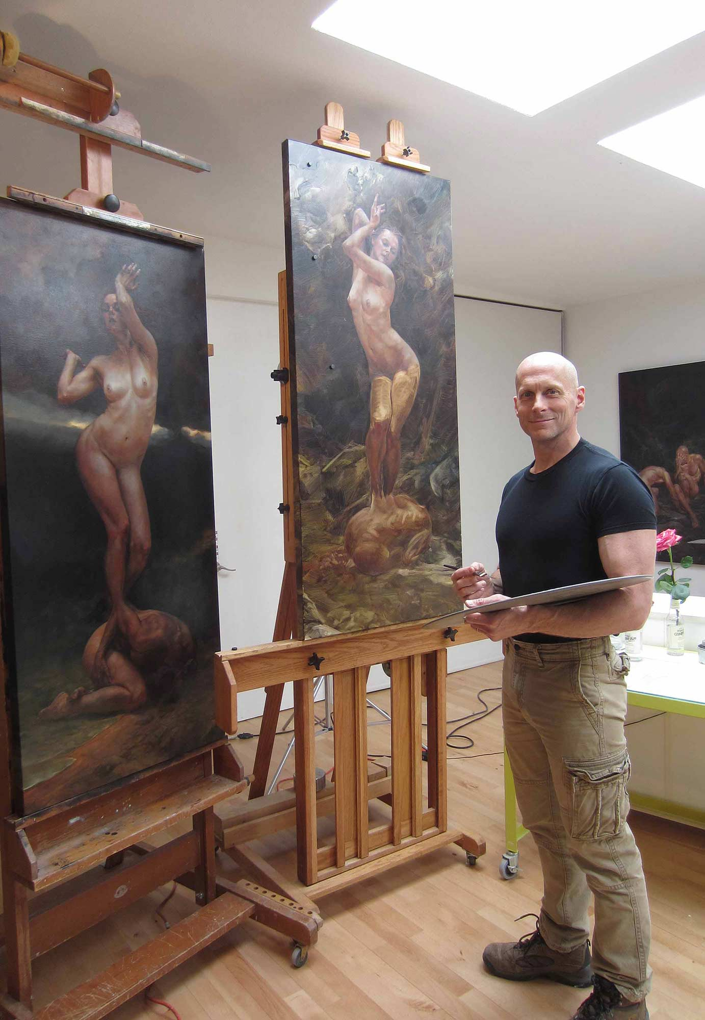 Colin Poole painting The Muse.