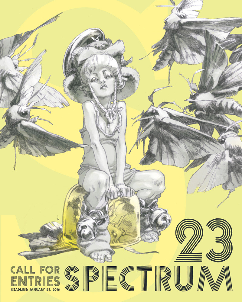 Spectrum 23 Call for Entries Poster Artwork by Claire Wendling.