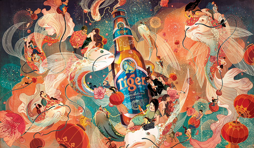 Victo Ngai -- A Tiger Beer Chinese New Year